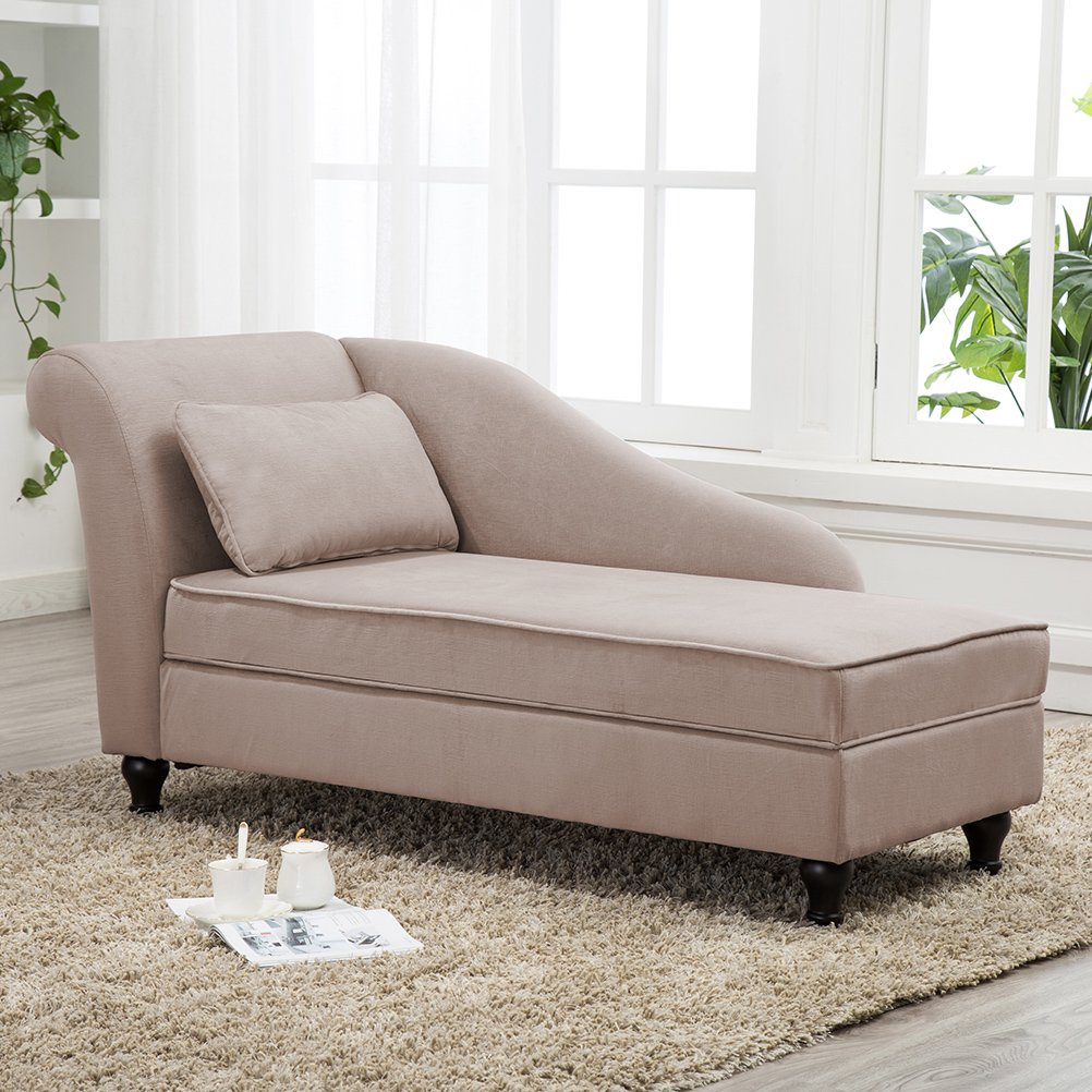 Details about Chaise Lounge Storage Button Tufted Sofa Chair Couch for  Bedroom or Living Room