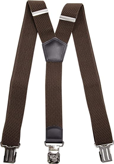 strong clips-Heavy duty Mens braces wide adjustable+elastic suspenders Y-shape