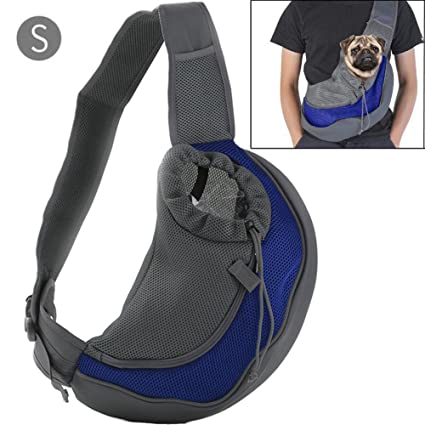 fa9308b51c3 BREADEEP Pet Sling Carrier, Small Dog Cat Sling Bag for Travel, Front Pack  Carry