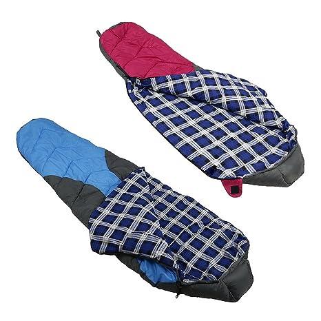 Uni Best Niños Saco de dormir momia saco de dormir de algodón interior 2 Pack Rojo
