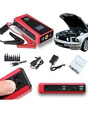 Indigi Heavy Duty Pocket Emergency Vehicle Instant Jump Starter 8000mAh USB 12V Power Bank Battery Charger Travel Kit! (Red)