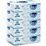 Fine Classic Facial White Tissues, 200 Sheets x 2 Ply - Pack of 5