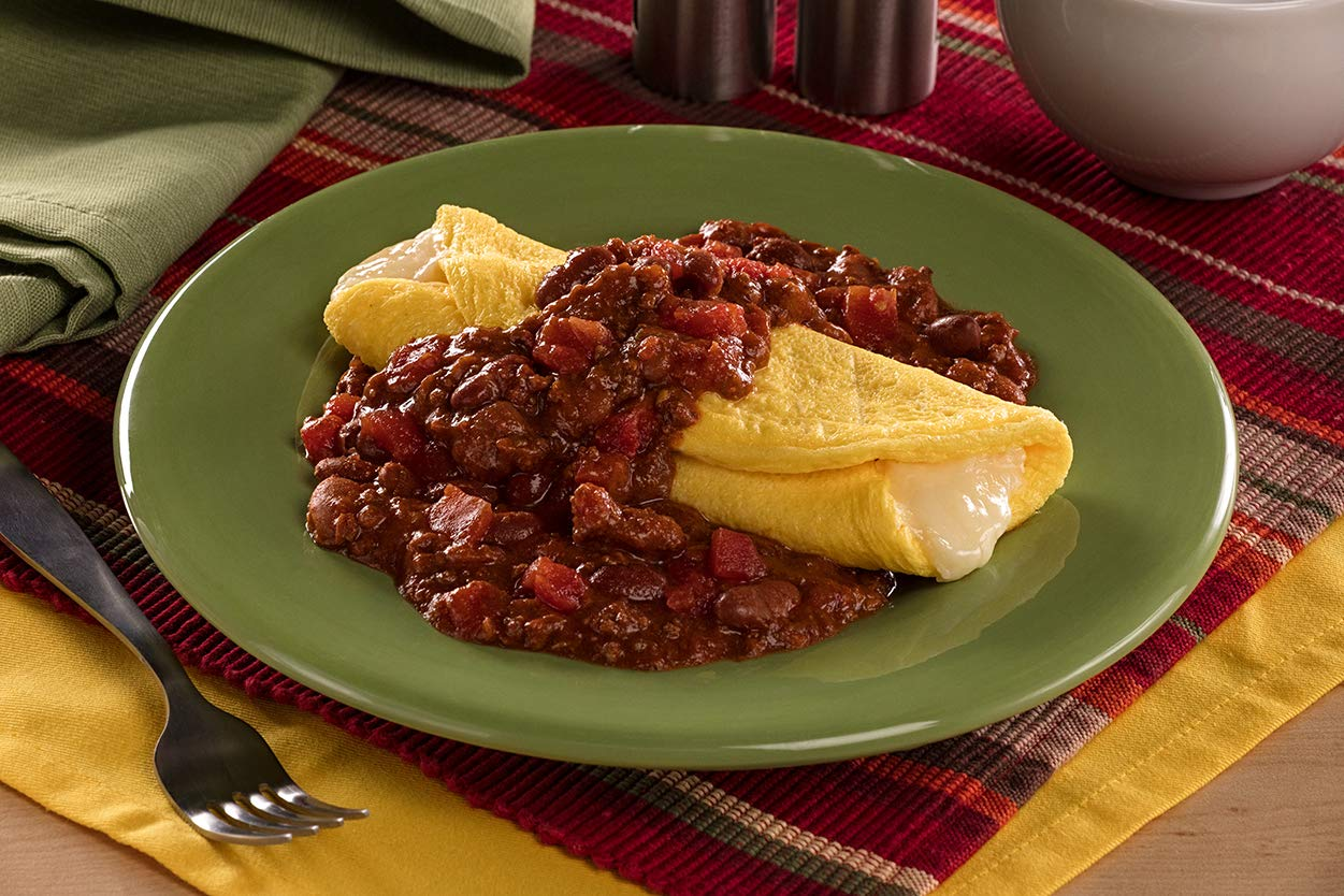 Chef 5 Minute Meals Self Heating Meal Breakfast: 3 Cheese Omelet w/Beef Chili with Beans - Case of 12 by Chef 5 Minute Meals (Image #2)