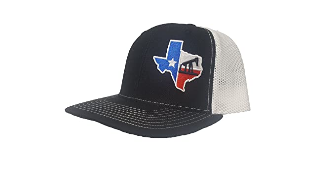 Richardson 3D Puff Texas Flag RIG Drilling Oil Field Hat Cap ... fd1d781fa54e
