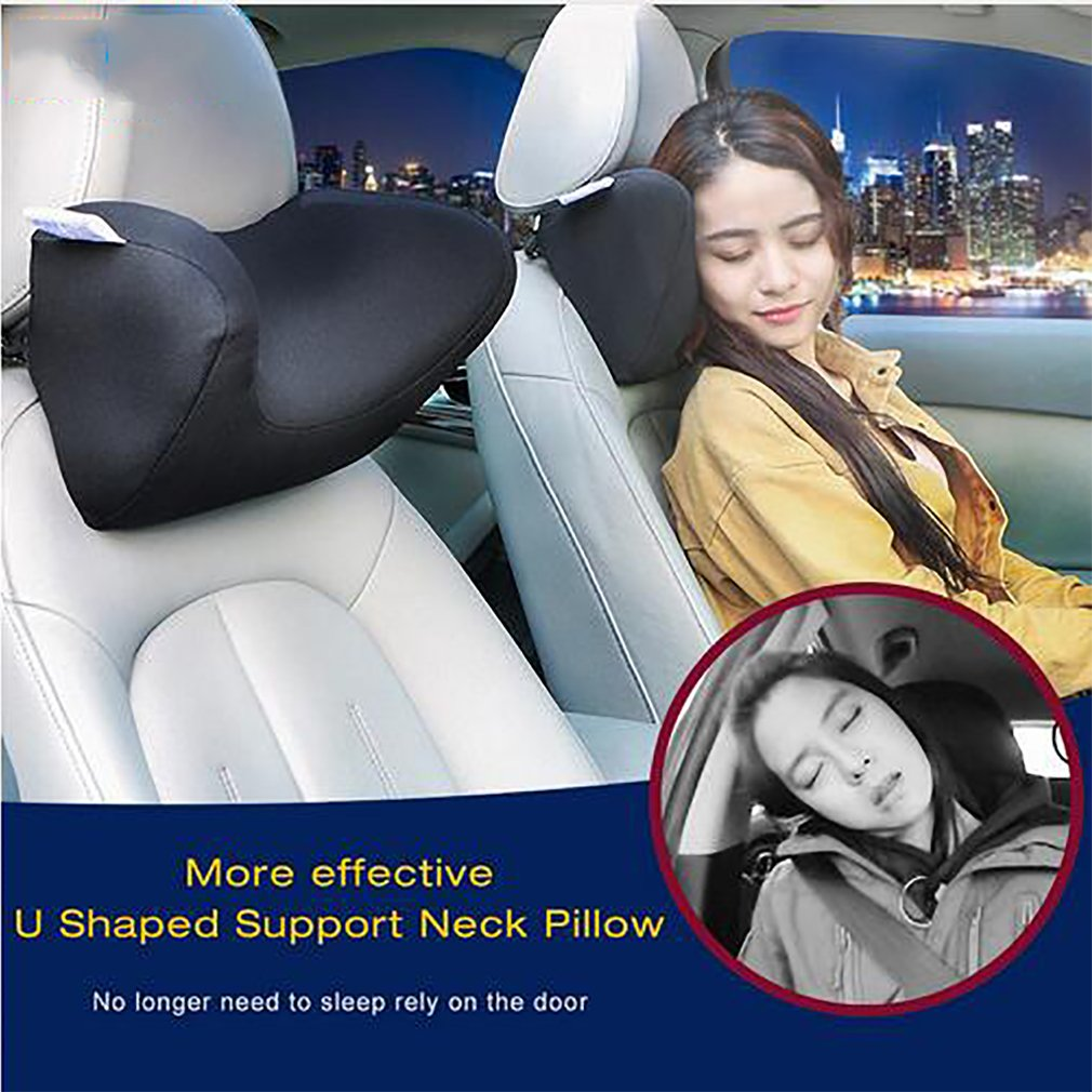 Black Lovehome Premium Memory Foam Auto Lombare del Cuscino /& Car guanciale cervicale Kit