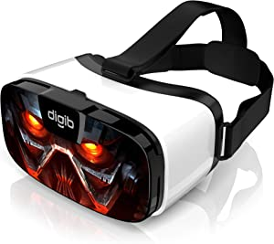 VR Headset for iPhone and Android Phones - Virtual Reality Goggles | Comfortable & Adjustable VR Glasses with Full Eye Protection | Play Your Best Mobile 3D Games 360 Movies - Gift for Kids and Adults