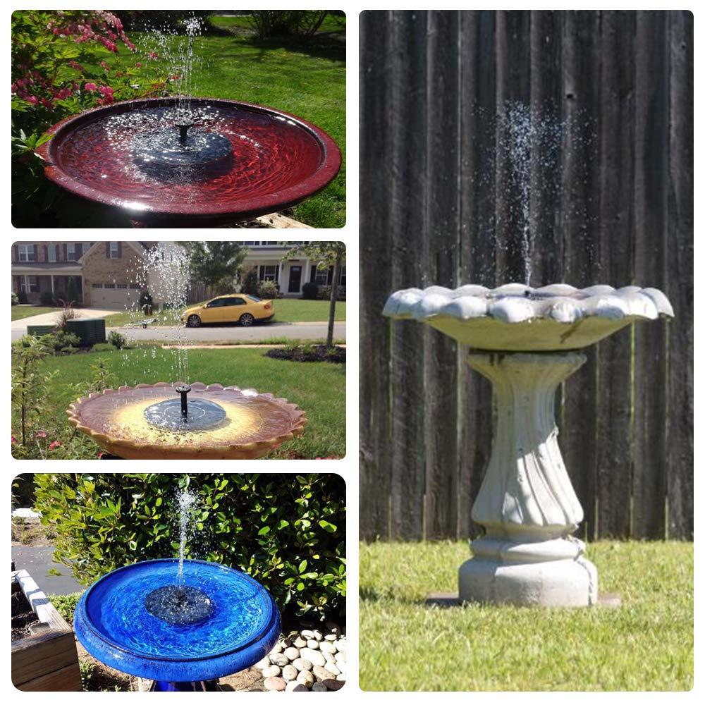 FaayFian 2W Solar Birdbath Fountain Pump, Cordless Solar Bird Attractive Pump for Outdoor Garden Decoration, Watering Submersible Pump for Pond, Swimming Pool, Fish Tank by FaayFian (Image #3)