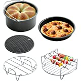 Air Fryer Cooking Cake Pizza Barbecue Baking Accessory Fit All 3.7QT,5.3QT,5.8QT for Gowise Phillips and Cozyna 5PCS/Set