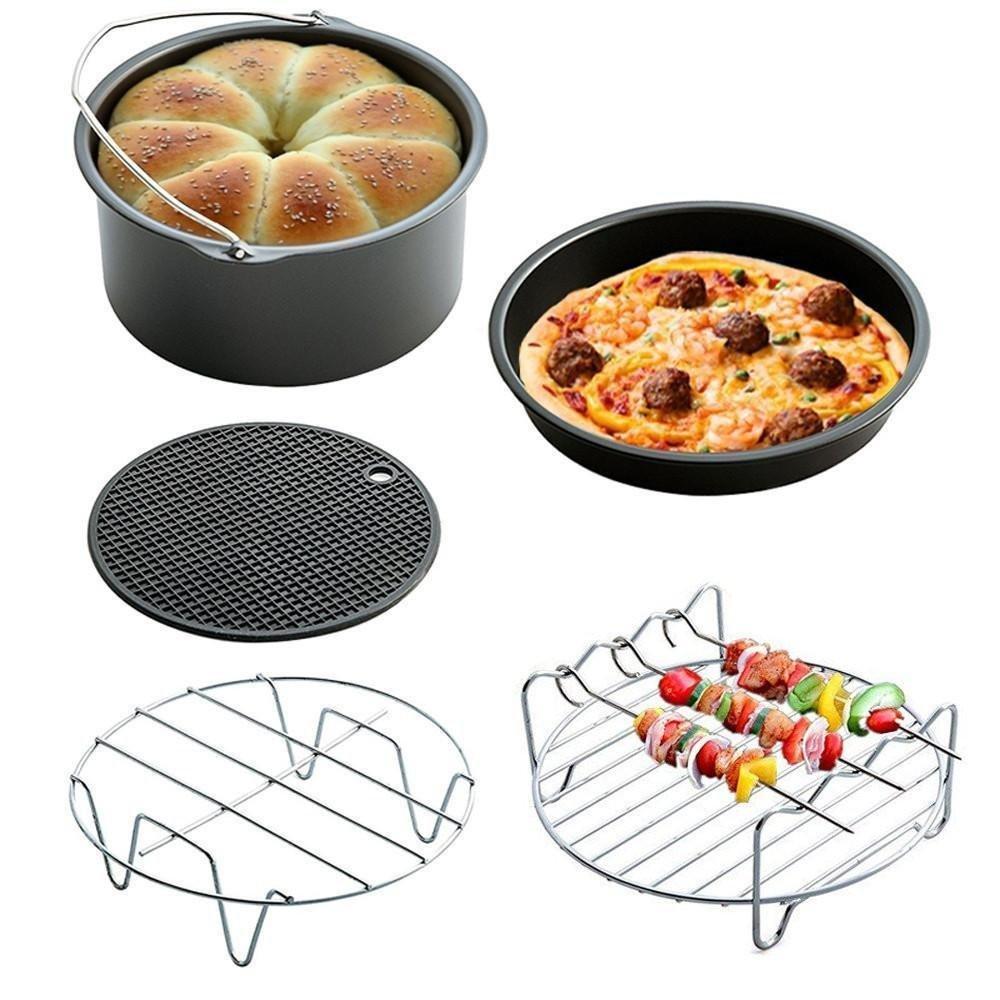 (Juego de 5) aire accesorios de cocina de la freidora para GoWISE Phillips y cozyna, 7cm Diámetro para 3.5qt Pawaca