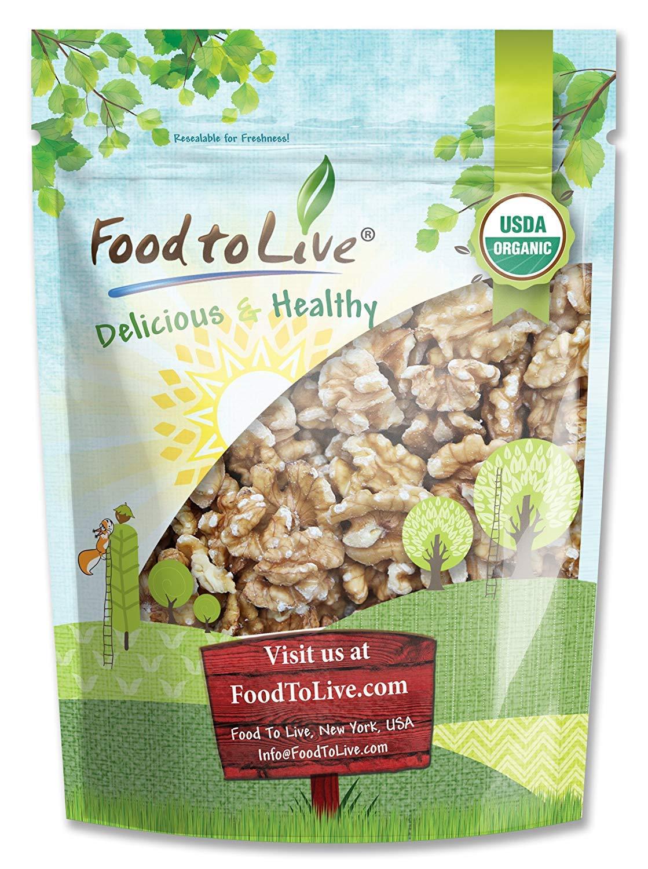 California Organic Walnuts, 8 Ounces - Non-GMO, No Shell, Kosher, Raw, Vegan, Sirtfood, Bulk