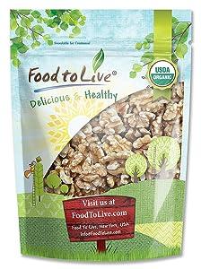 California Organic Walnuts, 2.5 Pounds - Non-GMO, No Shell, Kosher, Raw, Vegan, Sirtfood, Bulk