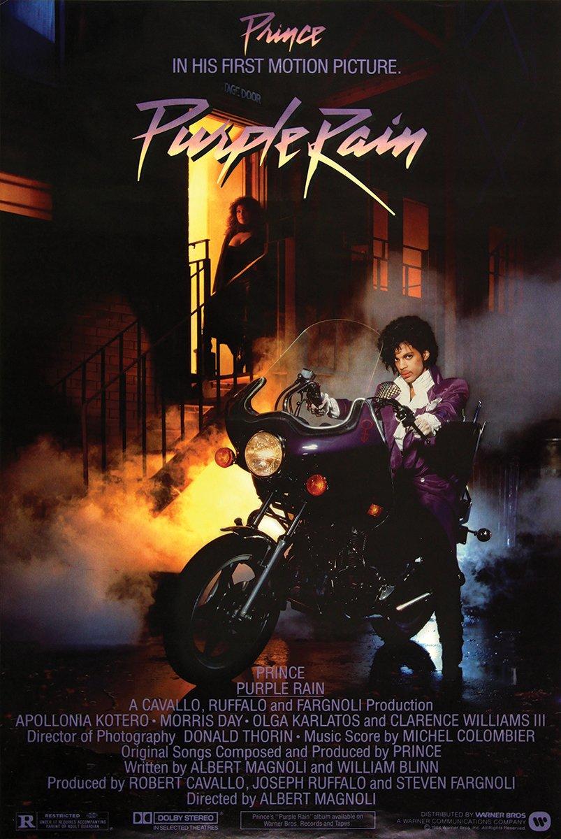 Purple Rain Movie Poster Prince 24x36