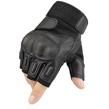 Amazon.com: fuyuanda mitad dedo Guante Knuckle duro de los ...