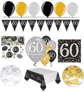 Feste Feiern Geburtstagsdeko Zum 60 Geburtstag 17 Teile Servietten