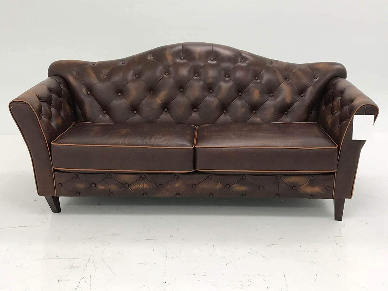 Amazon.com: Leather Sofa 2-Seat, Brown: Kitchen & Dining