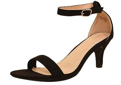 f5eb99c7f81bc Amazon.com   Chase & Chloe Kira-1 Single Strap Low Heeled Sandal ...