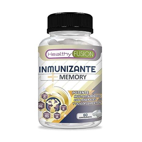 Inmunizante + Memory | Completo multivitamínico con vitaminas C, E, B3, B5, A, B6, B2, B1, B9, B12, D3, zinc y hierro | Evita gripes y resfriados | ...