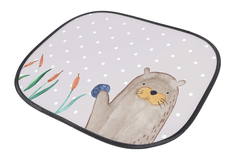 Auto Sonnenschutz Otter mit Stein /& Mrs Mr Panda Familie Kinder Farbe Grau Pastell