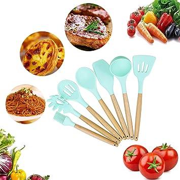 10 Stück Kochgeschirr Set Silikon Küchenutensilien Hitzebeständig küchenhelfer