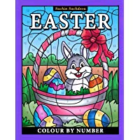 Easter Colour by Number: Coloring Book for Kids ages 4-8