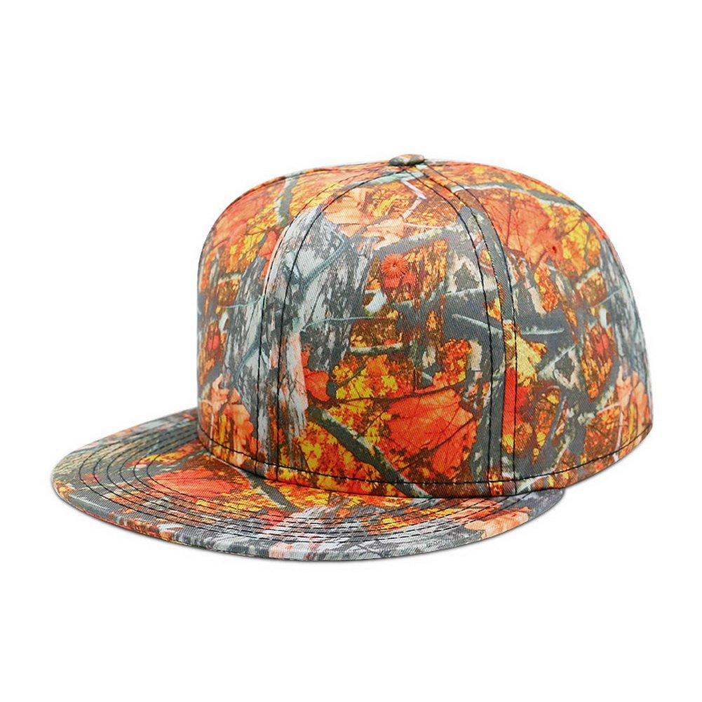 Zegoo Maple Leaf Orange Grey Adjustable Hip hop Hat Baseball Trucker Cap 857c9d1c0735