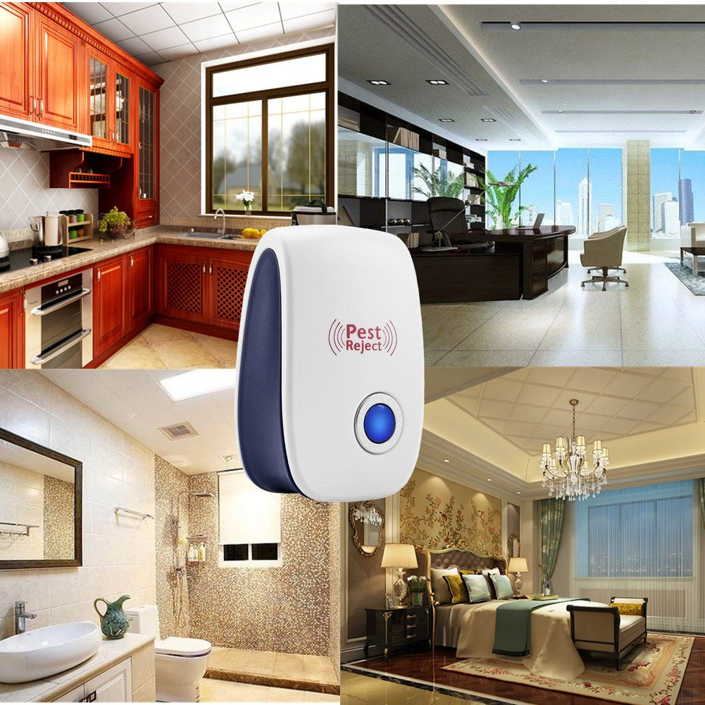 MAZU Powerful Indoor Plug-in Pest Repeller with All Types of Insects and Rodents Pest Control Eliminator Very Effective Rodent Deterrent Pest Control- Innovative (4) by MAZU (Image #7)