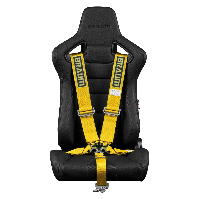 Braum - Yellow 5 Point 3 Inch SFI 16.1 Racing Harness (BRH-YLS5) - Single