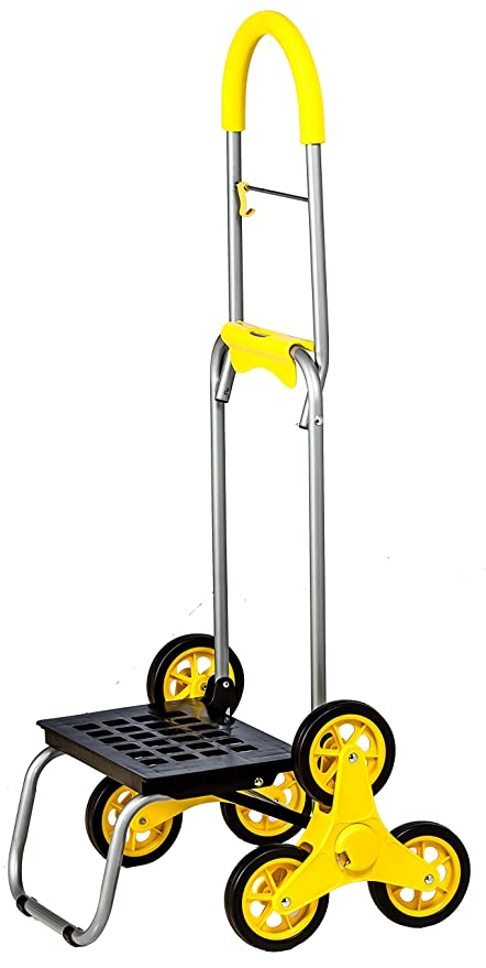 8225a574eb62 dbest products Stair Climber Mighty Max, Dolly Hand Truck Hardware Garden  Utility Cart Standard Yellow
