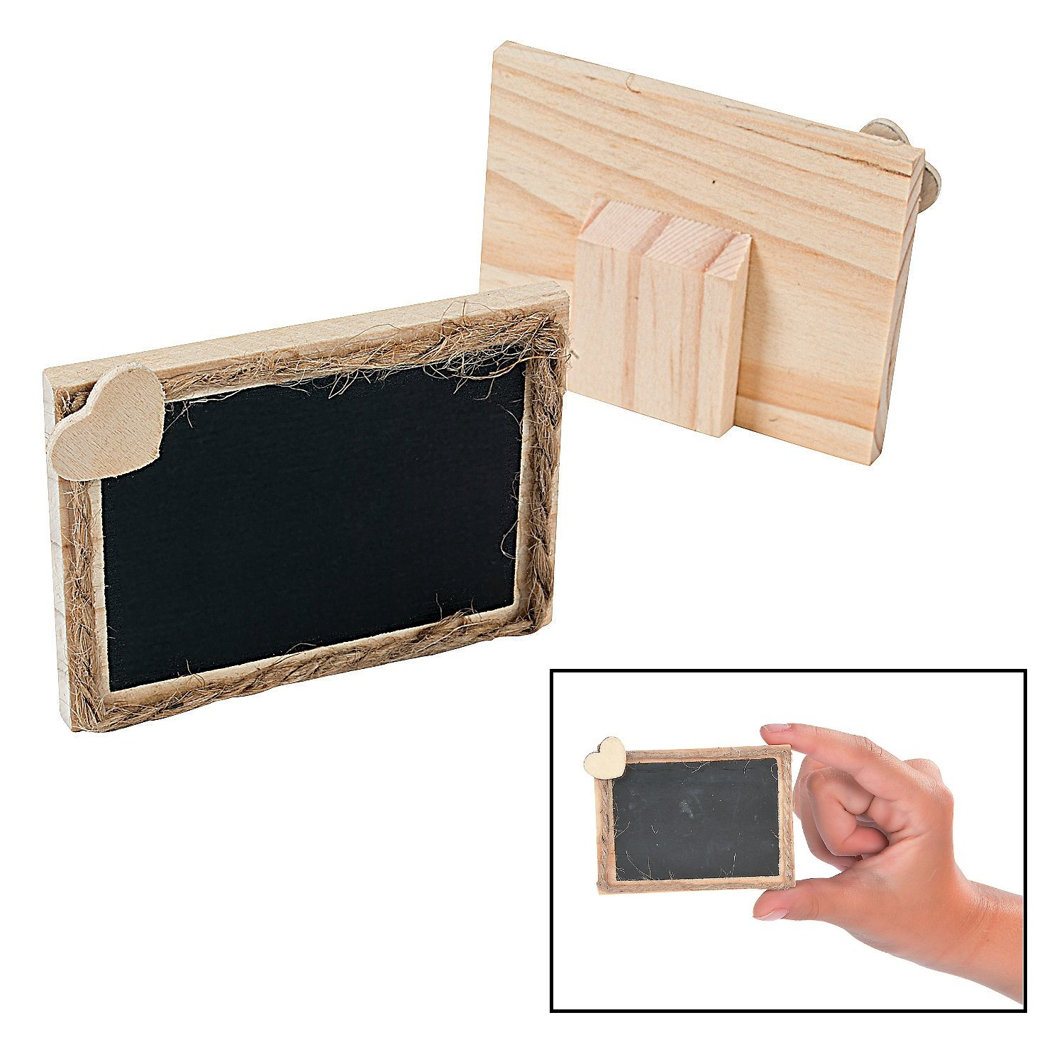 DIY Wooden Chalkboard Place Cards (12 Pack) 3'' x 2 1/4''