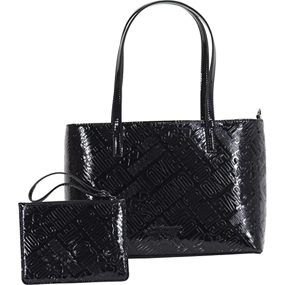 Tote Bag On Sale, Black, Leather, 2017, one size Moschino