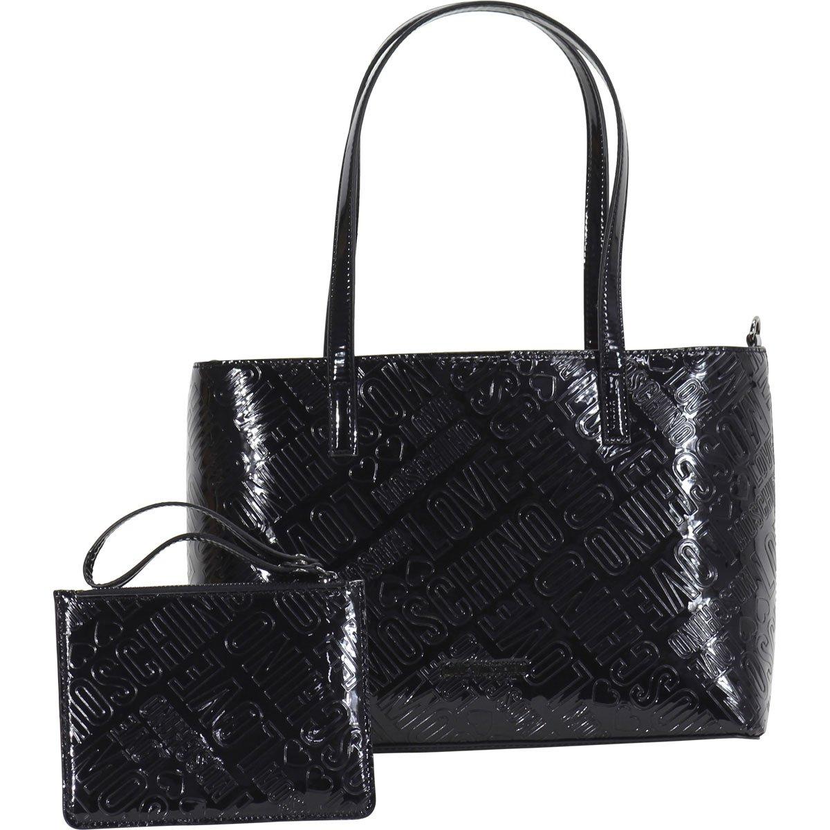 Love Moschino Women's Embossed Logo Tote Handbag