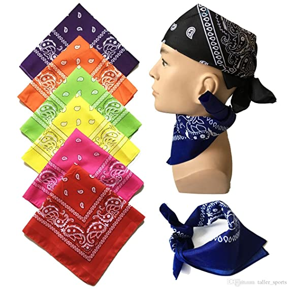 9s or 12 Pack Cowboy Bandanas Bandana with Original Paisley Pattern BOOLAVARD 1s 6s
