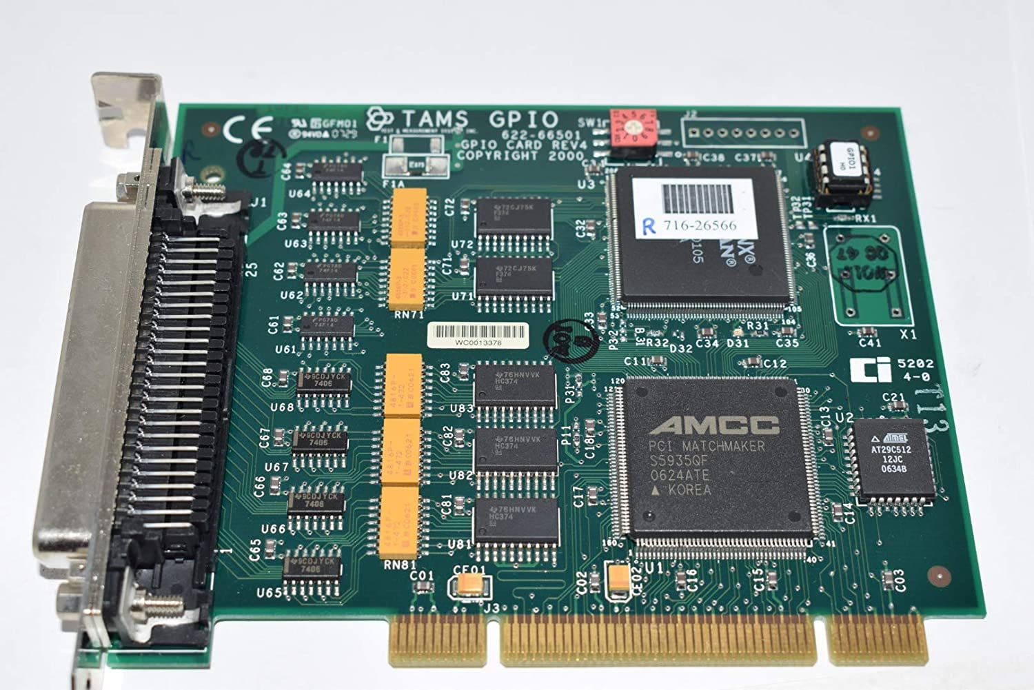 TAMS 622-66501 Rev 4 GPIO PCI Interface Card
