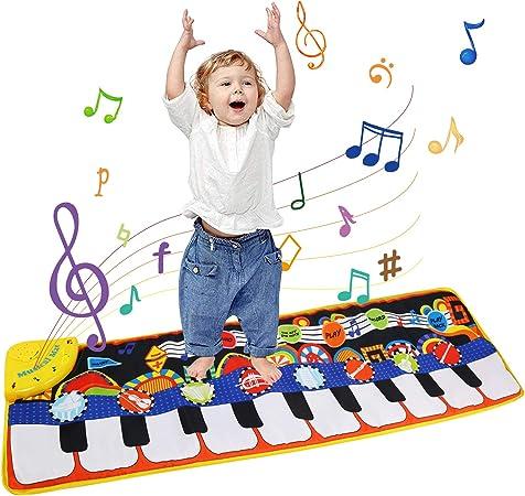 Ballery Alfombra de Piano, Alfombra Musical de Teclado para Bebé, Alfombra de Juegos, Juguetes Niños 2 Años, Alfombra de Piano Actividad Juego De ...