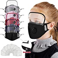 3 Pcs Kids Children Face Cover with Detachable Eye Shield Washable Reusable Boys Girls Adjustable Face Protection with 6 Replaceable Filter (5PC)