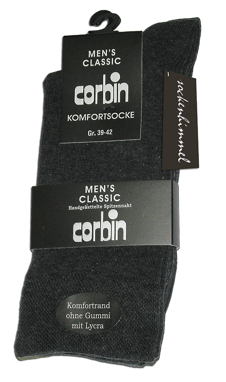 Herren Socken ohne Gummi u. ohne Naht 6er Pack Diabetikersocken ÖkoTex Baumwolle