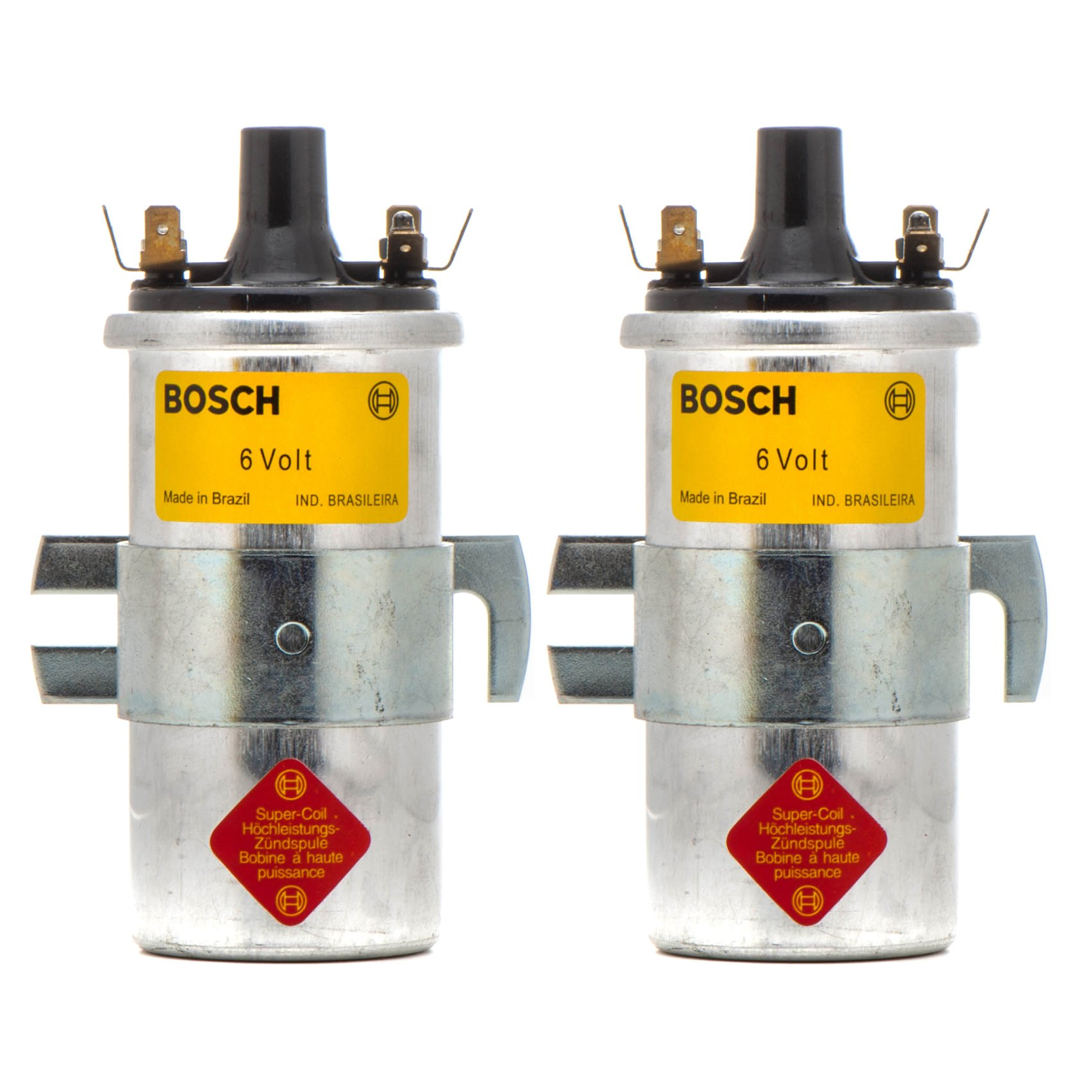 Brand New Set Of Two Bosch Ignition Coils Boxer Six Volt BMW R Airhead Motorcycles 12 13 1 243 452