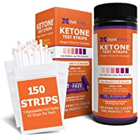 Ketone Keto Urine 150 Test Strips. 3 Resealable Foil Packs of 50 Strips Each. Lose Weight, Look & Feel Fabulous on a Low Carb Ketogenic or HCG Diet. Accurately Measure Your Fat Burning Ketosis Levels. (1 Bottle)