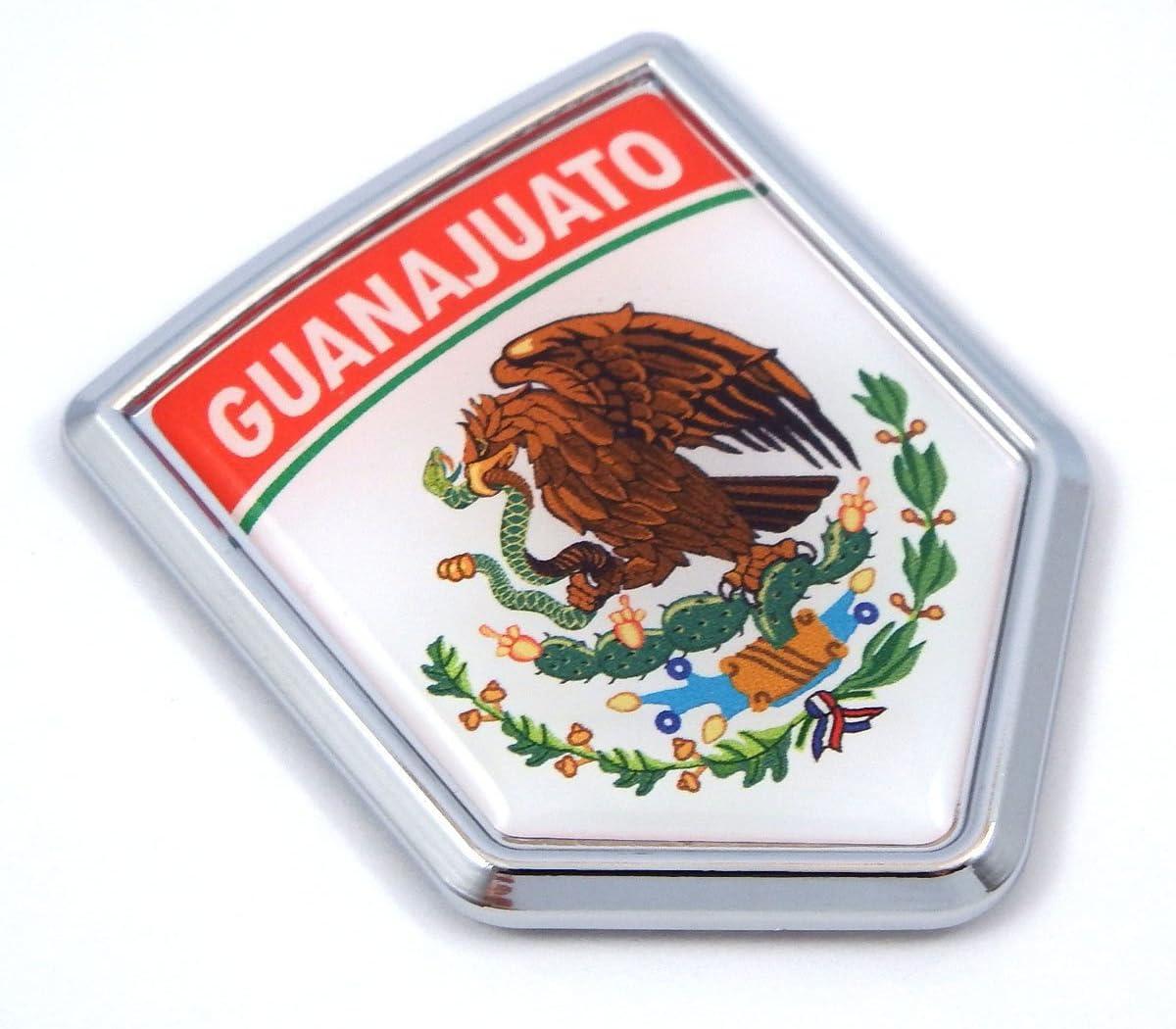 Mexico Flag GUANAJUATO License Plate Emblem