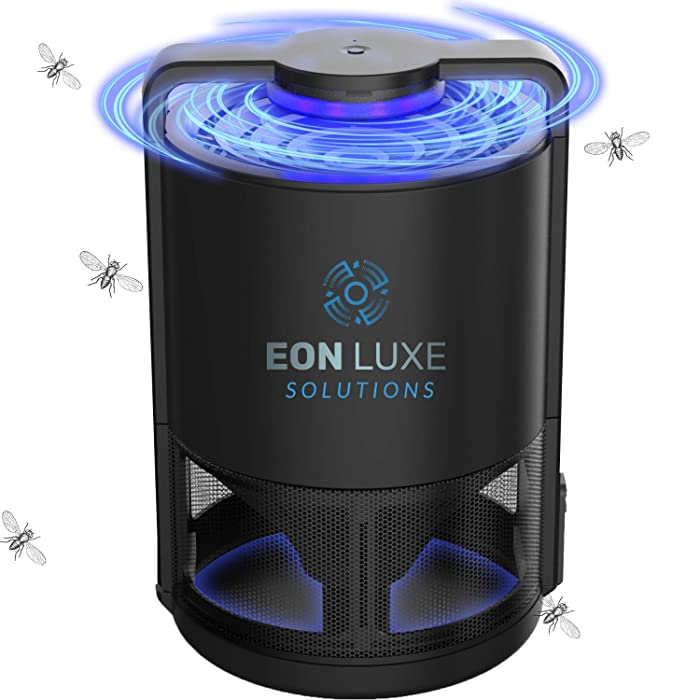 Eon Luxe Solutions Fruit Fly Trap - Gnats, Drain Flies, Mosquito, Insect Killer - Indoor Kitchen Bug Catcher - Non-Toxic - Chemical Free - No Zapper