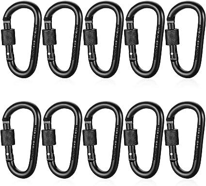 Karabiner Schlüsselanhänger Karabinerhaken Mit Schraubverschluss Im 5er Pack
