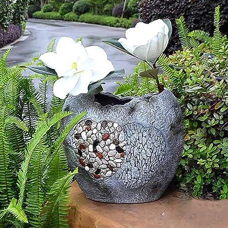 zenggp Jardinera De Jardín En Forma De Corazón Maceta Decorativa Borde Irregular Bonsai Zen Antiguo: Amazon.es: Hogar