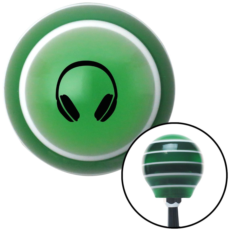 Black Headphones American Shifter 125505 Green Stripe Shift Knob with M16 x 1.5 Insert