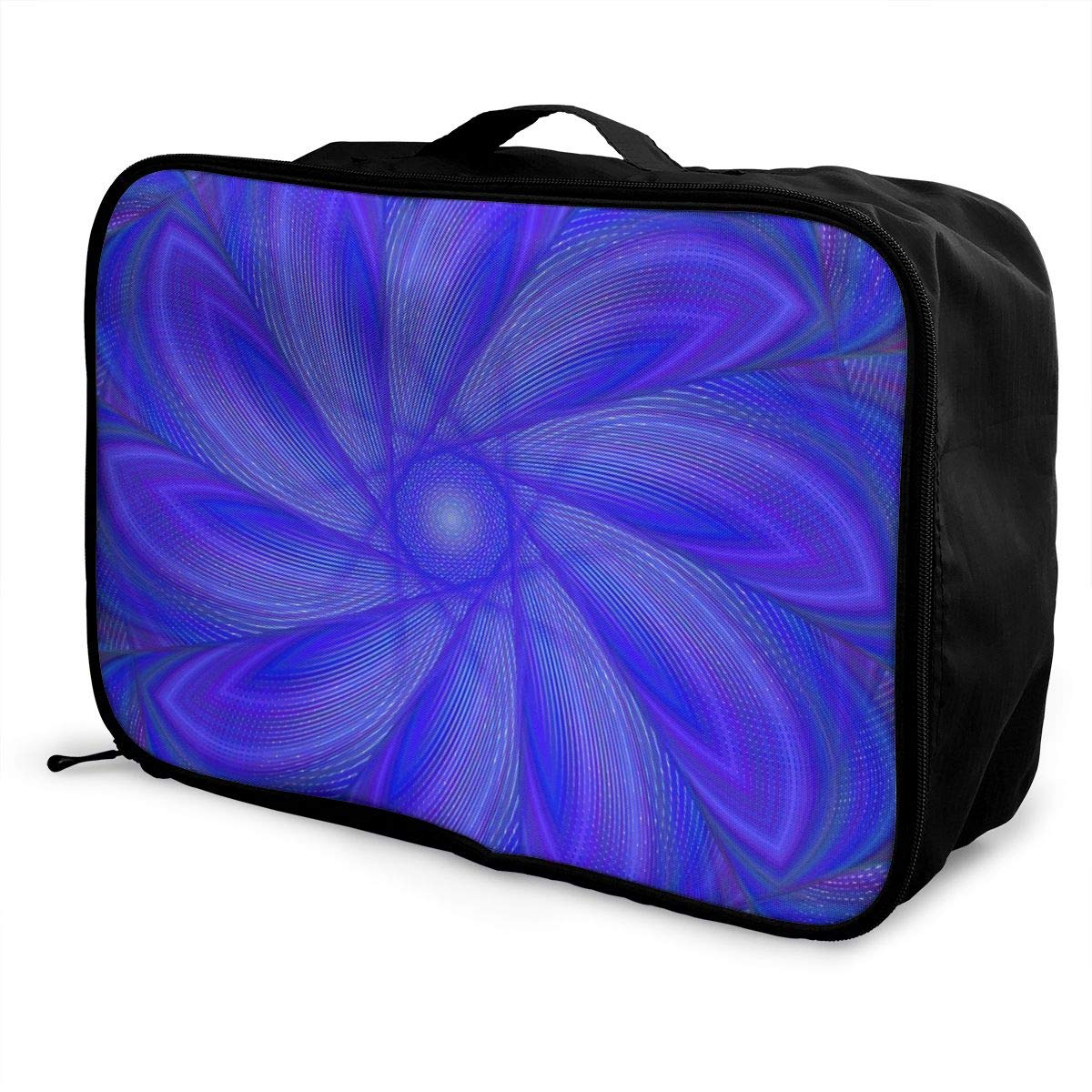Visual Art Point Colorful Travel Lightweight Waterproof Foldable Storage Carry Luggage Large Capacity Portable Luggage Bag Duffel Bag