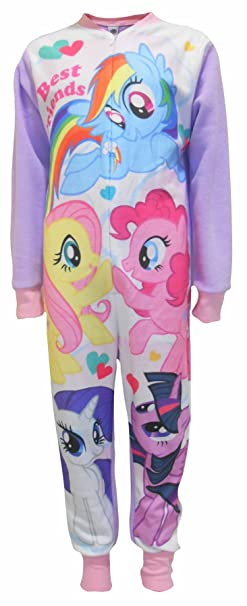 Amazon.com  Girls Licensed My Little Pony Rainbow Dash Fluttershy Print  Micro Fleece Onesies Age 3 to 8 Years  Clothing 020ee6a1e