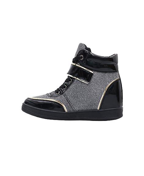 ccaa63c731 KRISP Damen Schuhe Keilabsatz Turnschuhe Verschiedene Varianten: Amazon.de:  Schuhe & Handtaschen