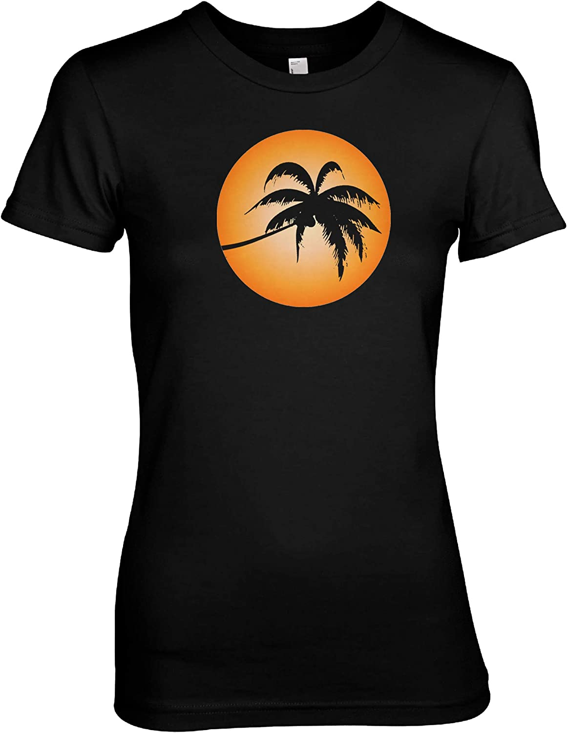 Palm Sun Cool Chilled Out Summertime T-Shirt Black