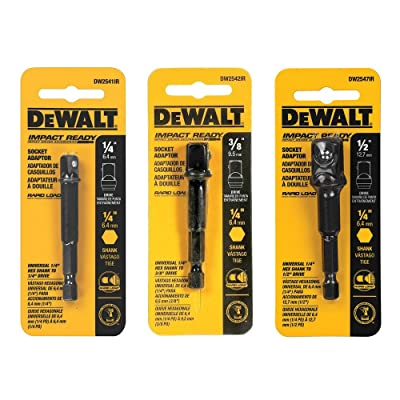 DeWalt 3-pc Socket Adapter Set includes DW2541IR, DW2542IR, DW2547IR - Drive Sockets - .com