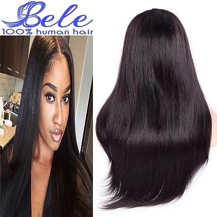Bele 10A precortadas brasileña pelo lacio frontales del cordón de la pelucas 130% de densidad