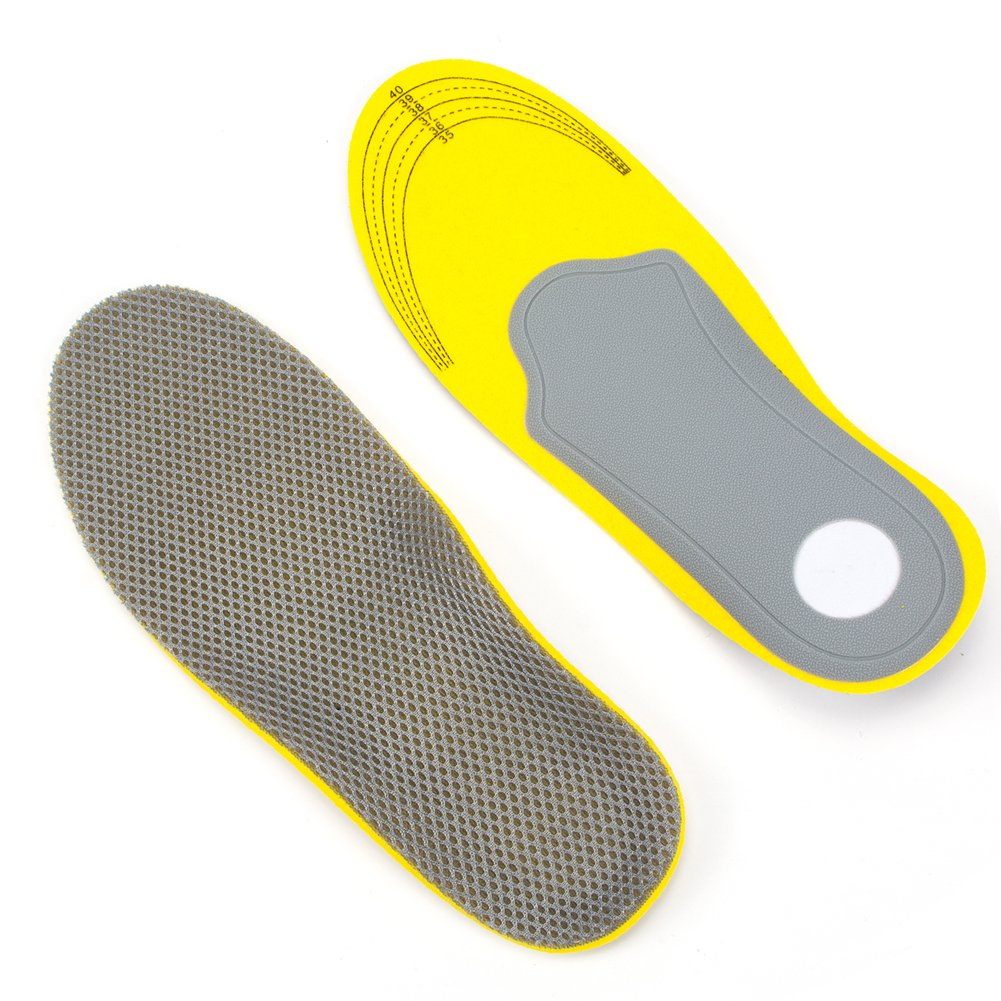 Xcyliveus Unisex Inserts with Cushioning Pad and Arch Support,Can be Trimed Sports Orthotic Insoles ( S Women Full Length:10.03''US:5-9)